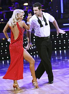 Kym Johnson & Joey Fatone dancing the Rumba.