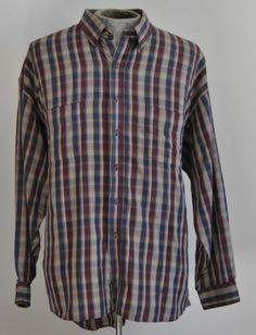 Men's Van Heusen Dress Shirt 65% Polyester 35% Cotton Size 2XLarge Long Sleeve