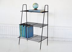 Mid-Century Wire Bookshelf / Magazine Rack. $72.50, via Etsy.