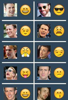 Chris Evans Emoji.... Need I say more?