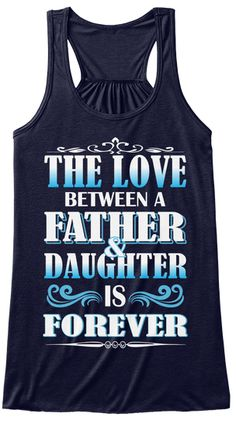 Father &Amp;  Daughter Is Forever Midnight Women's Tank Top Front