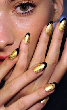 Norman Ambrose Spring 2012 - CND #nails #nailart #beauty