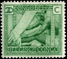 issued for use in Belgian Congo, Scott No. depicting an African weaver. Rare Stamps, Vintage Stamps, Vintage Toys, Congo Free State, Rd Congo, Belgian Congo, Postage Stamp Collection, Stamp Collecting, Republic Of The Congo