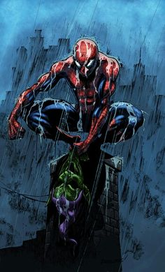 Spider-man holding Green Goblin mask https://itunes.apple.com/us/app/the-amazing-spider-man/id524359189?mt=8&at=10laCC
