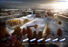 Biblioteca Central de Helsinki – Menção Honrosa – The Diagonal Agora   concursosdeprojeto.org