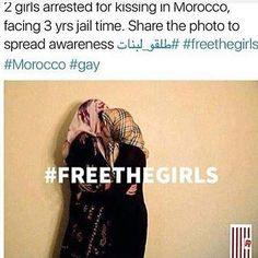 I'm sorry but this is ridiculous! No one should be arrested for showing affection. #freethegirls