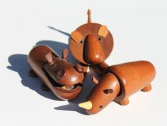 Vintage Japanese Wood Animal Collection Lion Rhino Hippo on Etsy, $450.00