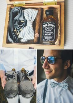 fun groomsman gifts http://www.weddingchicks.com/2013/11/26/gold-and-gray-wedding/