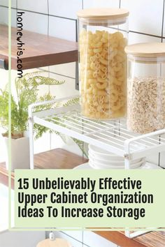 Low on kitchen cabinets storage space? Have trouble finding what you need? Here are 15 organization ideas that'll keep your cabinet clutter free and looking organized. If you love to cook, then you'll surely find these tips useful.Start organizing your upper and lower cabinets now with these 15 organization ideas! #homewhis #cabinetorganization #homeorganization #pantryorganization #spiceorganization #declutter Small Kitchen Organization, Fridge Organization, Organization Ideas, Organizing, Cabinet Spice Rack, Low Cabinet, Kitchen Cabinet Organization, Spice Holder, Spice Rack Organiser