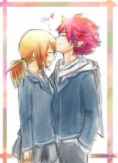 Fairy Tail Nalu (Natsu and Lucy) Fairy Tail Lucy, Arte Fairy Tail, Image Fairy Tail, Fairy Tail Guild, Fairy Tail Ships, Fairy Tail Anime, Natsu E Lucy, Fariy Tail, Fairy Tail Couples