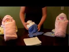 Create a unique and simple gift or centerpiece decoration for your next baby shower event. With 17 diapers, a onesie and a hat, you can trick your guests into believeing you brought a real newborn! This life-size and adorable diaper baby is completely reusable and way more fun than a traditional diaper cake!    As requested, here is the link to a ...