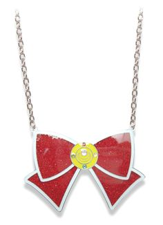 new official sailor moon glitter bow necklace! --> http://www.moonkitty.net/reviews-buy-sailor-moon-jewelry.php