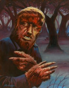the wolf man art - Bing images Classic Horror Movies, Horror Films, Horror Art, Gothic Horror, Monster Horror Movies, Horror Monsters, Monster Movie, Scary Movie Characters, Scary Movies