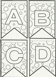Letras do alfabeto bandeirinhas de Festa Junina para colorir e enfeitar a sala de aula! - Alfabetos Lindos