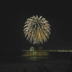 Año nuevo 2017 hermosa vista  desde la playa de coquimbo  presenciando los fuego  artificiales