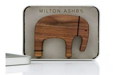 African elephant comes lovingly packaged in its own metal box Wooden Elephant, African Elephant, Metal Box, Toys, Bespoke, Activity Toys, Taylormade, African Bush Elephant, Clearance Toys