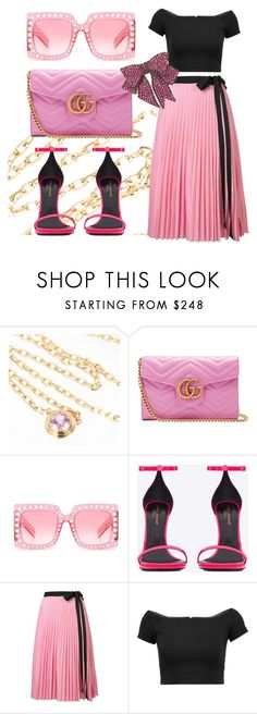 """""""Shades of Pink"""" by ellenfischerbeauty ❤ liked on Polyvore featuring Cartier, Gucci, Yves Saint Laurent, Tome, Alice + Olivia, Pink, gucci, HowToWear and waystowear"""