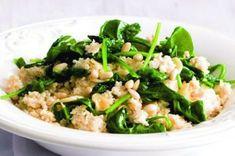 Kuskus se špenátem | Apetitonline.cz Green Beans, Risotto, Potato Salad, Spinach, Food And Drink, Potatoes, Vegan, Dinner, Vegetables
