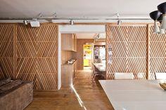 8 vezes em que a madeira triunfou na decoração: nas divisórias