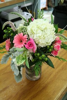 Winter Centerpiece in Birch Vase~ Fleurish Floral Boutique