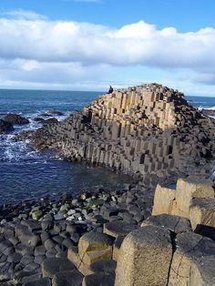 Giant's Causeway - County Antrim, Northern Ireland. Area of outstanding natural beauty, with some 40,000 interlocking basalt columns. From the website: http://iguide.travel/County_Antrim
