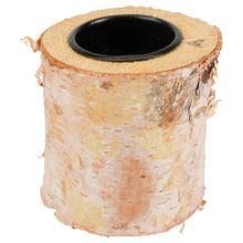 1,50 Birkenstamm-Teelichthalter Holz 8x10cm