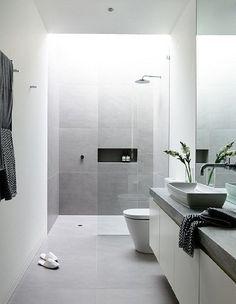baño y ducha minimalistas