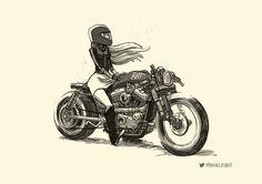 Mercury - House Of Skullduggery Anime Motorcycle, Bike Drawing, Bike Illustration, Damier, Bike Art, Character Design References, Illustrations, Anime Comics, Courses