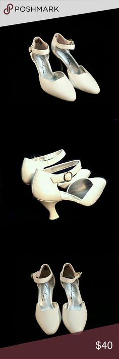 "VINTAGE GAROLINI ""FANIA""STRAP HEELS VINTAGE GAROLINI ""FANIA"" STRAP HEELS  Pre-Loved/Lightly Worn SZ 7 Leather Upper 3"" Heel Balance Man Made 2166437 FANIA""STRAP  Colors May Not be Exact due to Lighting or Ur Screen GAROLINI Shoes Heels"