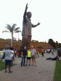 Madiba Statue - Union Buildings 16/12/2013. Photo by Nicky Labuschagne.