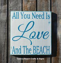 Beach Decor  Beach Sign  Nautical Decor  Beach Wedding Coastal Décor Reclaimed Wood Hand Painted Sign by CarovaBeachCrafts,