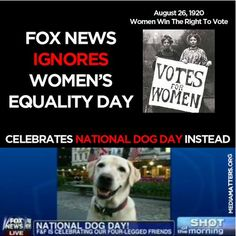 #priorities  .....  women are frowned upon for equal rights at Fox.