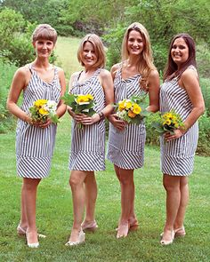 Ohh wedding + stripes... maybe not all over, but cool.