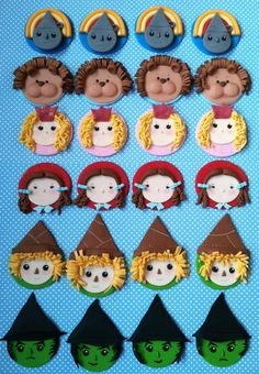 Wizared of Oz Fondant Cupcake Toppers