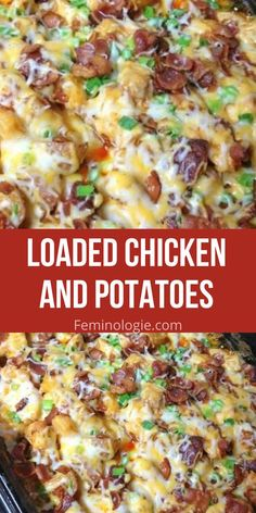 Easy Chicken And Potato Recipe, Recipes With Chicken And Potatoes, Potato Recipes Crockpot, Easy Casserole Recipes, Chicken Recipes, Chicken Potatoes, Meal Recipes, Recipes Dinner, Cooking Recipes