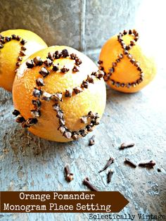 How to make an orange #pomander - great for the holidays and #fall (and smells divine)!  eclecticallyvintage.com