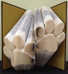 Paw Prints Folded Book Art and other designs