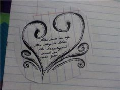 beatles tattoos | Heart Poem Tattoo – Tattoo Picture at CheckoutMyInk.com
