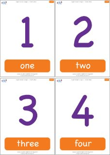 Practice counting forwards and backwards with 1 to 7 flashcards for the Super Simple Learning song Seven Steps. #preK #Kindergarten #ESL