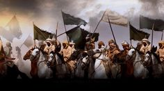 Muslim warriors, at the earliest period, preferred simple black, white, or green banner.