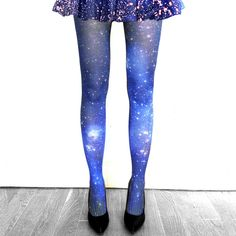 Small Magellanic Cloud Nebula Print Tights