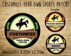 Circle Custom Rodeo Patches