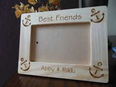 Hey, I found this really awesome Etsy listing at https://www.etsy.com/listing/209222316/best-friends-wood-engraved-frame