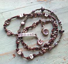 nina bagley etsy | Visionary Bracelet/Necklace Wrap by Nina Bagley