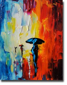 Oil Painting, Palette Knife Texture, Abstract.