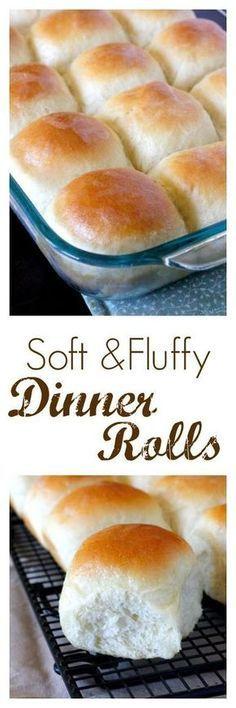 Soft and Fluffy Dinner Rolls - perfect for Easter dinner! #EasterRecipes #Easter