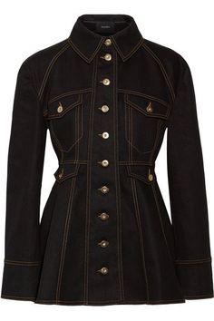 Black denim Button fastenings through front 99% cotton, 1% elastane; lining: 100% cotton Machine wash Imported