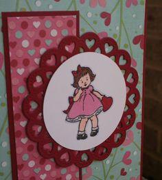 Sweet Valentine! Stampin' Up Greeting Card Kids