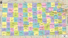 Kansas | Map of Kansas and Kansas Counties and Road Details Maps...