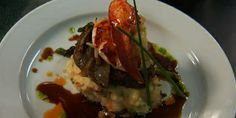 Beef Tenderloin with Mashed Potatoes and Asparagus Ragout and Lobster Mashed Potatoes Lynn crawford